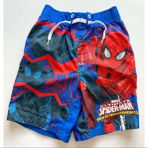 Boys- Spider-Man swim trunks